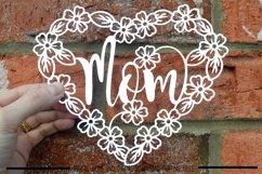 Mom paper cut SVG / DXF / EPS files Product Image 1