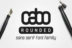 Cabo Rounded Font Family Product Image 1