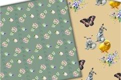 Easter digital paper pack.Vintage pattern. Product Image 6