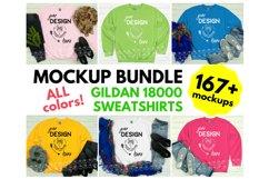 Gildan 18000 Sweatshirt Mockup Bundle - All Colors! Product Image 3