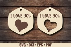 Keychains SVG Glowforge file, Keychain SVG file for Cricut Product Image 1