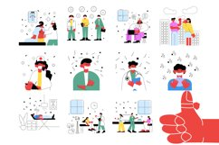 Set of medical vector illustrations Product Image 4