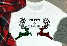 Merry and Bright Buffalo Plaid Reindeer Design Product Image 3