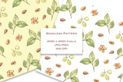Cheese and Snacks. Watercolor clipart, patterns. JPG, PNG Product Image 4