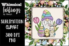 Easter Pal Gnome Sublimation Clipart Product Image 1