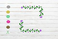 flower border svg cut file,flower floral svg,desoration svg Product Image 1