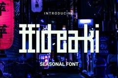 Web Font Hideaki Font Product Image 1
