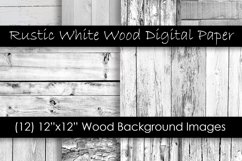 Rustic White Wood Textures - White Wood Backgrounds Product Image 1