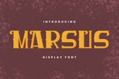 MARSUS Font Product Image 1