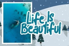 Blue snow | Funny Typeface Product Image 5