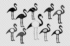 Flamingo svg dxf cutting files Product Image 2