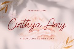Cinthya Amy - Handwritten Font Product Image 1
