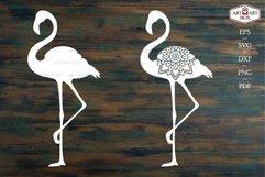 Set of four pink flamingos. Product Image 2