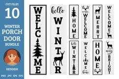 10 Porch door winter signs bundle, welcome signs, reindeers Product Image 1