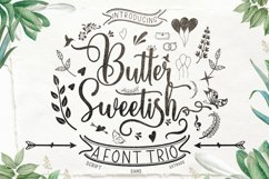 Butter Sweetish Font TRIO and Extras Product Image 1