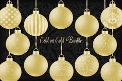 Gold on Gold Christmas Bauble Product Image 1