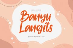 Banyu Langits - Quirky Display Font Product Image 1