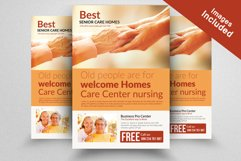 Old Homes For Senior People Flyers Template Product Image 2