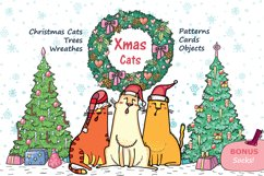 Xmas Cats clip-art, patterns, cards Product Image 1