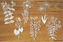 Wildflowers set 3 SVG files for Silhouette and Cricut. Product Image 1