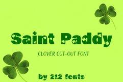 212 Saint Paddy St. Patrick's Irish Ireland Clovers OTF Font Product Image 1