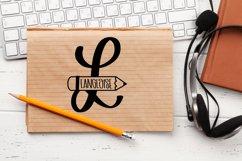 Teacher Pencil Monogram Split Font Product Image 4