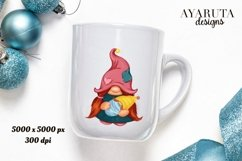 Gnome Mother png/ mom with baby/ breastfeeding clipart/ gift Product Image 1