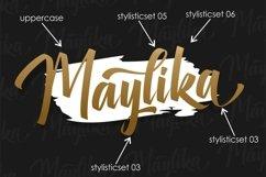 Maylika - calligraphy font script Product Image 6