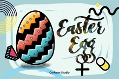 Easter egg png, easter clipart, Cute easter egg clipart, png Product Image 3