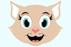 Cute Cat SVG Cut Files, PNG cat clipart Product Image 3
