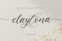 claytona Modern Calligraphy Script Font Product Image 1