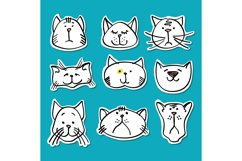 Cute doodle cats stickers collection Product Image 1