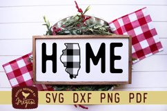 Illinois Buffalo Plaid State Home SVG DXF Cut File Product Image 1