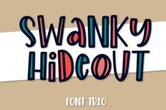 Swanky Hideout - A Font Trio Product Image 1