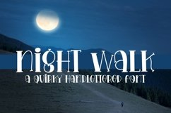 Web Font Night Walk - A Quirky Handlettered Font Product Image 1
