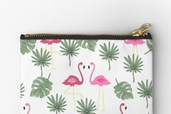 Valentines day seamless pattern Pink flamingo digital paper Product Image 14