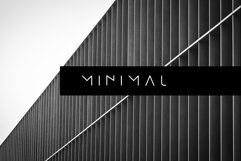 MINIMAL - modern futuristic font Product Image 1