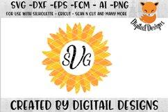 Sunflower Monogram Frame SVG Product Image 1
