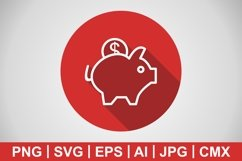 Vector Piggy Bank Icon Product Image 1