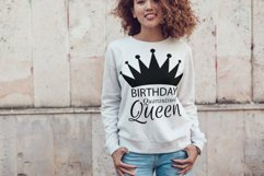 Quarantined Birthday Queen gift and decor svg cutting file. Product Image 4