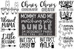 Mommy And Me SVG Bundle of 34 Designs - DXF PNG Cut Files Product Image 1