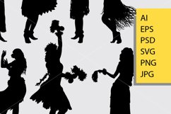 Hula hula girl dance silhouette Product Image 2