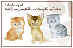 Furry friends. Kittens. Watercolor clip arts Product Image 2