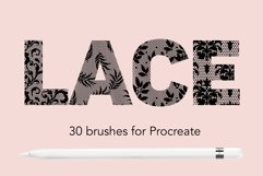 Lace pattern procreate brushes Product Image 1