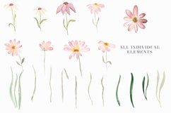 Watercolor Floral Clipart - Daisy Belle Product Image 3