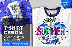 Summer illustration for t-shirt design Product Image 1