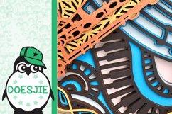 3d svg layered mandala music instrument saxophone Product Image 3