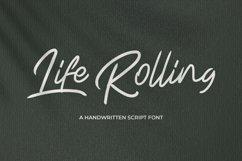 Life Rolling - Handwritten Script Font Product Image 1