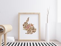 Easter sublimation. Watercolor leopard bunnies clipart. Product Image 2