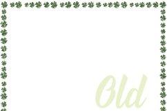 St Patricks Day Glitter Borders Digital Paper Product Image 2